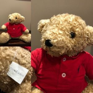 Vtg RALPH LAUREN POLO Teddy Bear